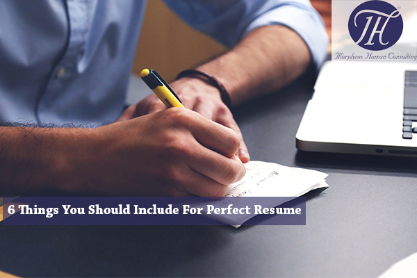 6 things you should always include in resume morpheus consulting