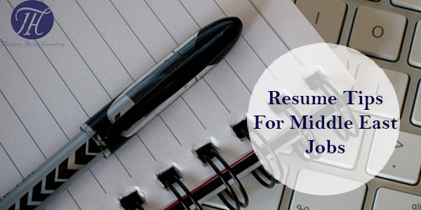 resume  cv  tips middle east jobs