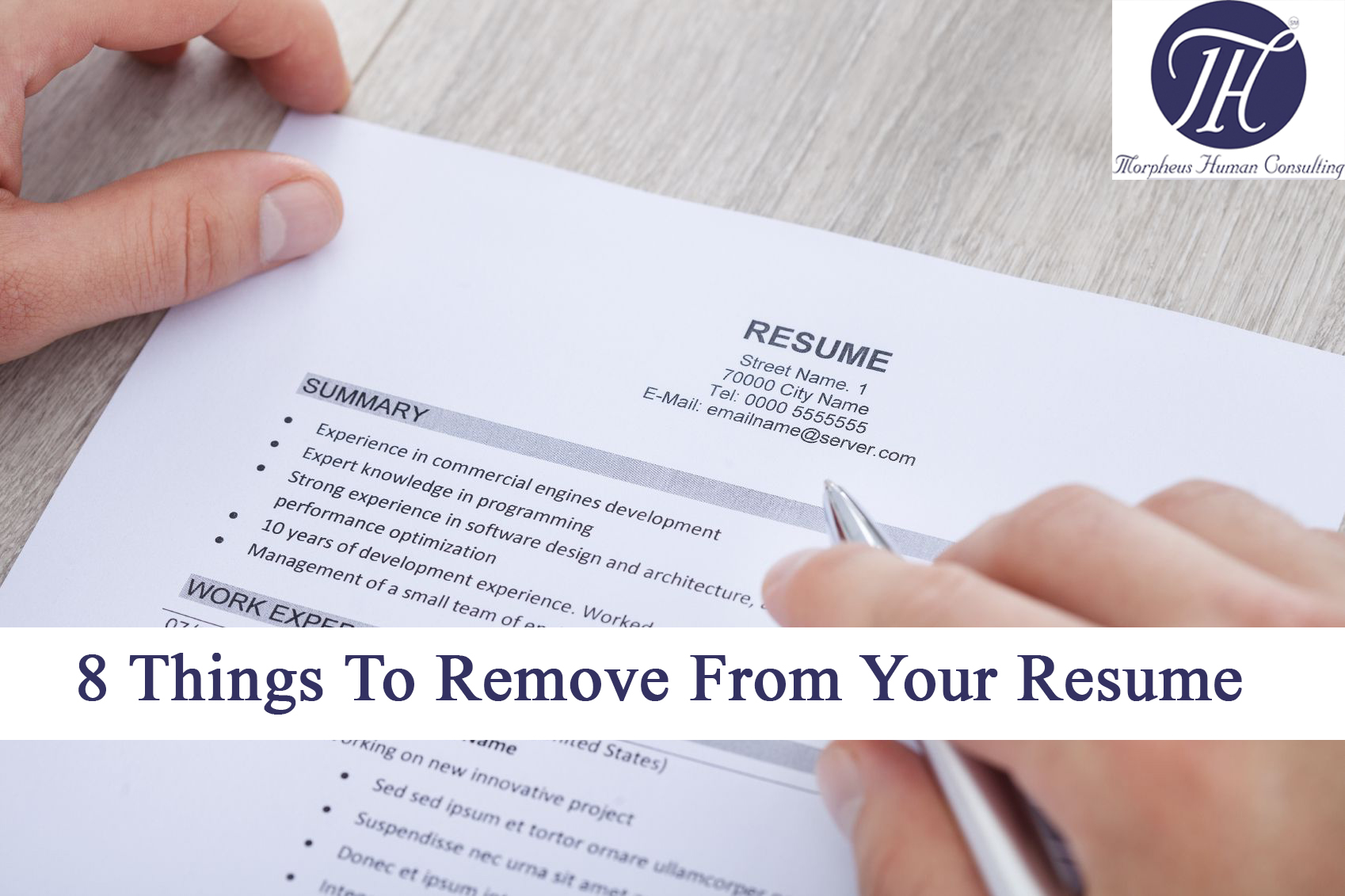 8 Things To Remove From Your Resume