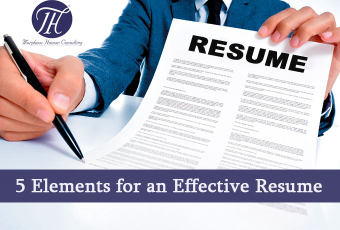 5 Elements for an Effective Resume