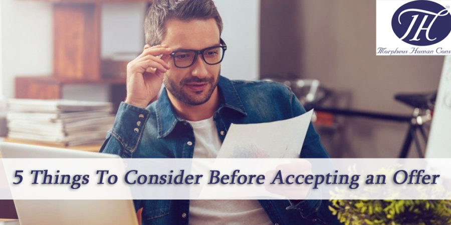 Things to consider before accepting an offer