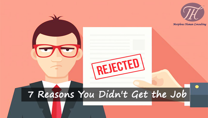7 Reasons You Didn't Get the Job